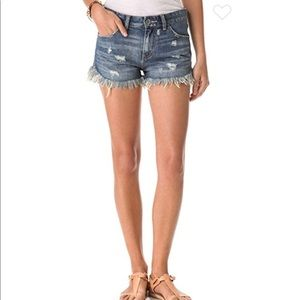 Free People Dolphin Cutoff Jean Shorts